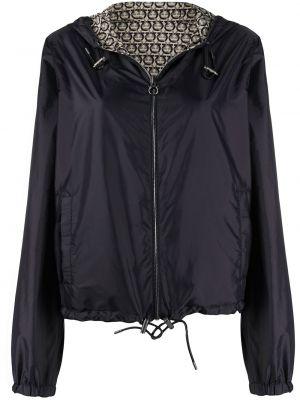 Черная кожаная куртка на молнии Salvatore Ferragamo
