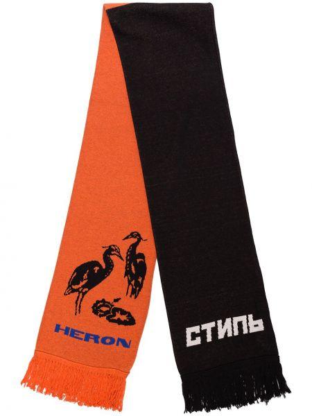 Czarny szalik wełniany Heron Preston
