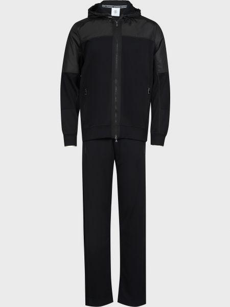 Черный спортивный костюм на молнии из вискозы Bogner