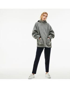 Куртка с капюшоном из альпаки с карманами Lacoste