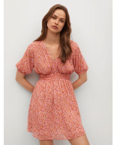 Czerwona sukienka na lato Mango