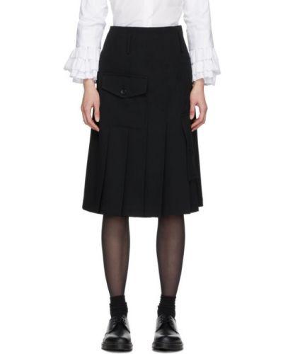 Плиссированная юбка кожаная на бретелях Comme Des Garcons Comme Des Garcons