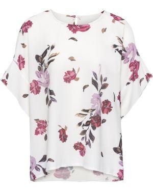 Блузка с коротким рукавом с широкими рукавами с цветочным принтом Bonprix