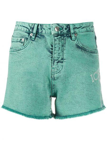 Джинсовые шорты с бахромой с карманами Iceberg