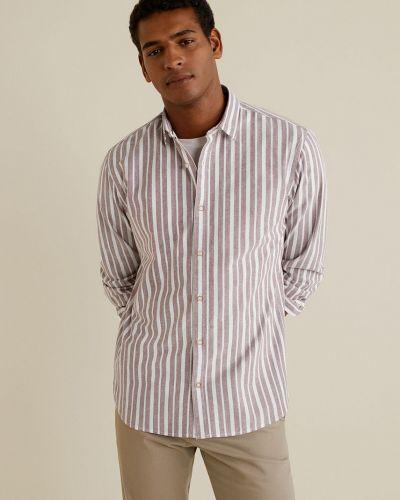 Рубашка с длинным рукавом в клетку в полоску Mango Man