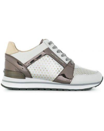 Белые кроссовки на шнуровке Michael Michael Kors