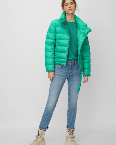Зеленая куртка на молнии с воротником свободного кроя Marc O' Polo