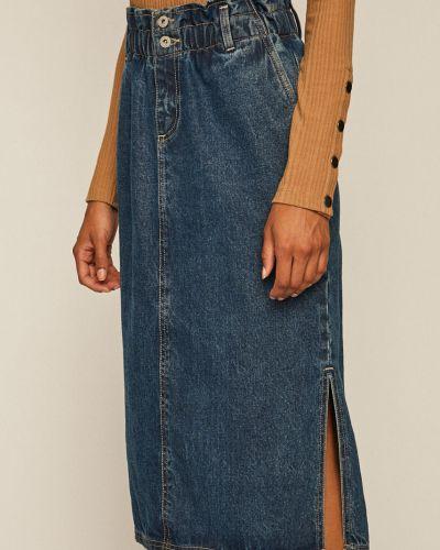 Прямая джинсовая юбка на резинке в рубчик на пуговицах Medicine
