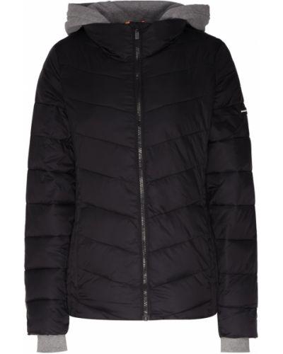Куртка с капюшоном черная стеганая Dkny