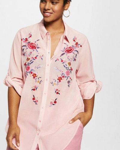 Розовая рубашка Violeta By Mango