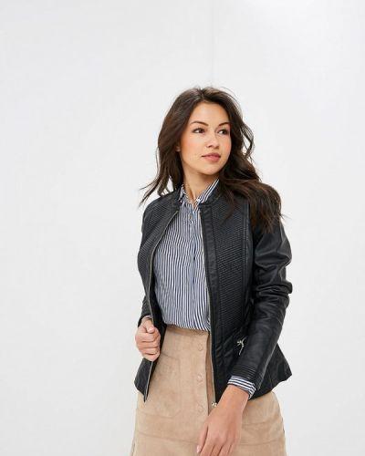 Кожаная куртка черная осенняя Wallis