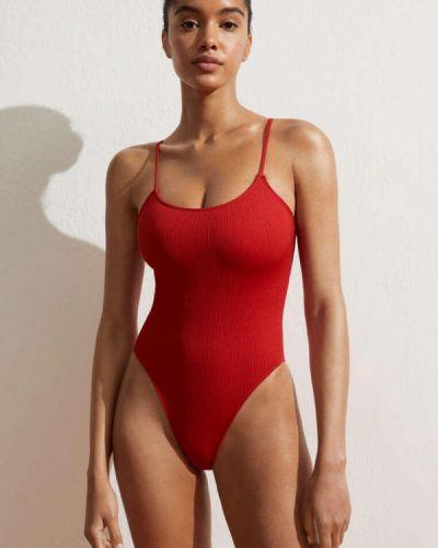Красный слитный купальник Oysho