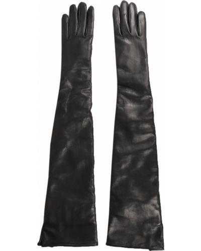 Czarne rękawiczki Ann Demeulemeester