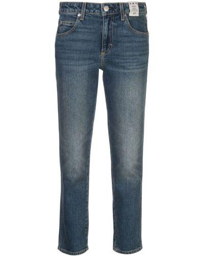 Прямые джинсы синие на пуговицах Amo