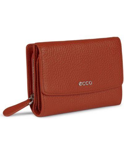Кожаный кошелек на молнии большой Ecco