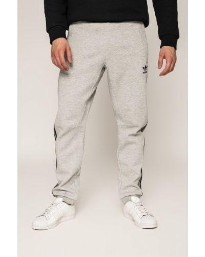 Серые брюки на резинке Adidas Originals