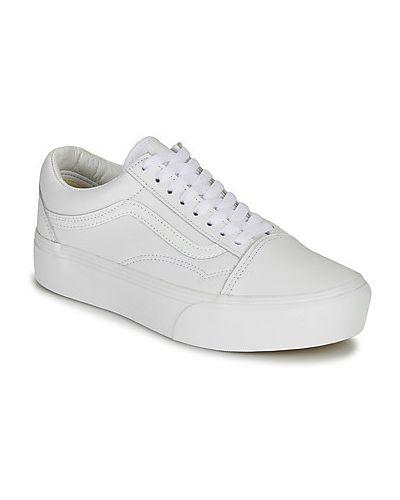 Biały buty na platformie Vans