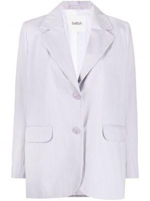 Однобортный малиновый удлиненный пиджак с карманами Ba&sh