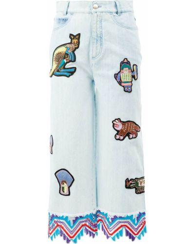Укороченные джинсы в стиле бохо Peter Pilotto