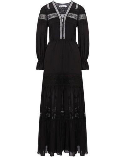 Платье макси из вискозы с подкладкой Self-portrait