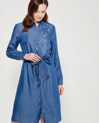 Платье с длинными рукавами джинсовое Zarina