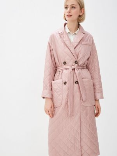 Теплая розовая утепленная куртка Lanicka