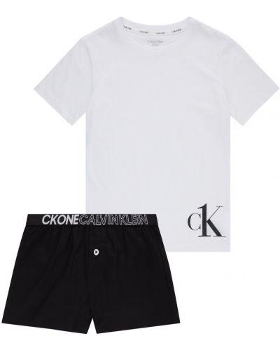 Czarna piżama krótki rękaw na co dzień Calvin Klein