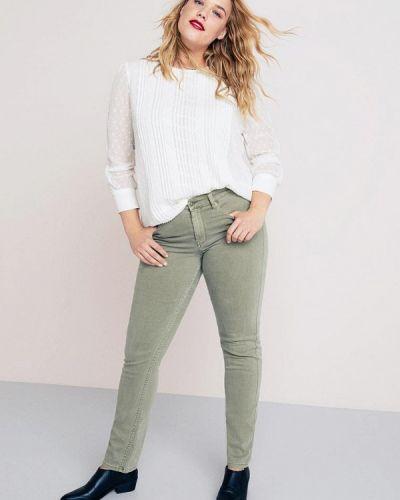 Зауженные брюки льняные Violeta By Mango
