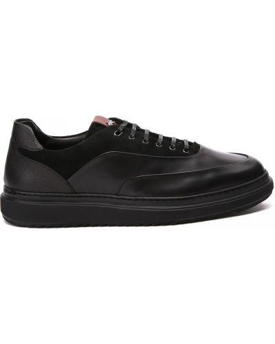 Черные итальянские кроссовки Franceschetti
