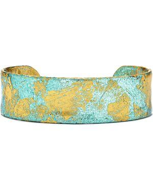 Złota bransoletka ze złota turkusowa Evocateur