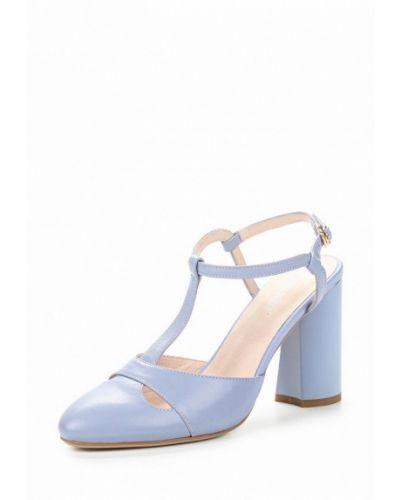 Голубые кожаные туфли La Grandezza