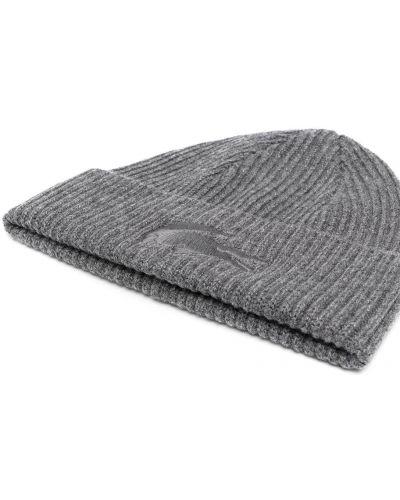 Шерстяная шапка бини - серая Lacoste