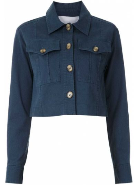 Синяя длинная куртка Nk