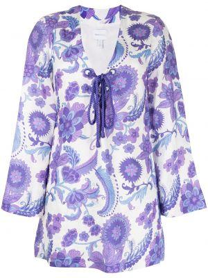 Хлопковое платье макси - фиолетовое Alice Mccall