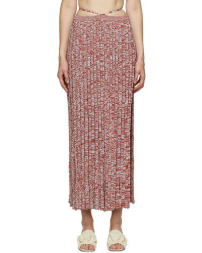 Красная юбка макси из вискозы Christopher Esber