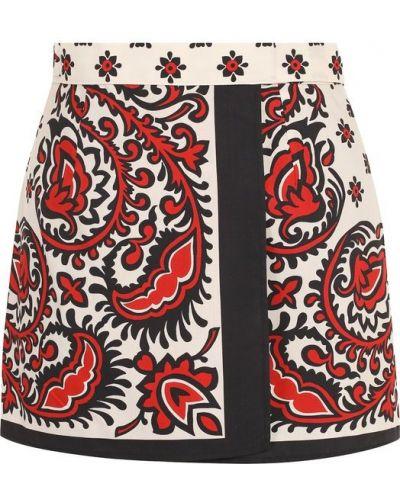 Короткие шорты с запахом с бантом с поясом Redvalentino