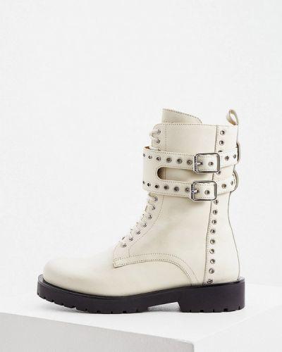 Белые высокие ботинки Twinset Milano