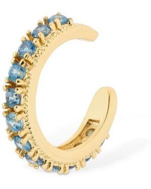 Niebieskie złote kolczyki ze złota z cyrkoniami Camila Carril