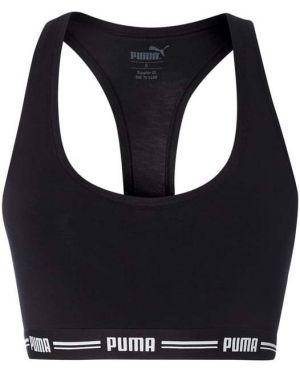 Czarna piżama bawełniana z paskiem Puma