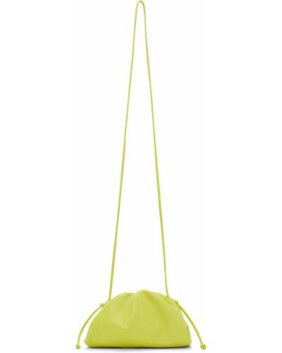 Żółta kopertówka srebrna Bottega Veneta