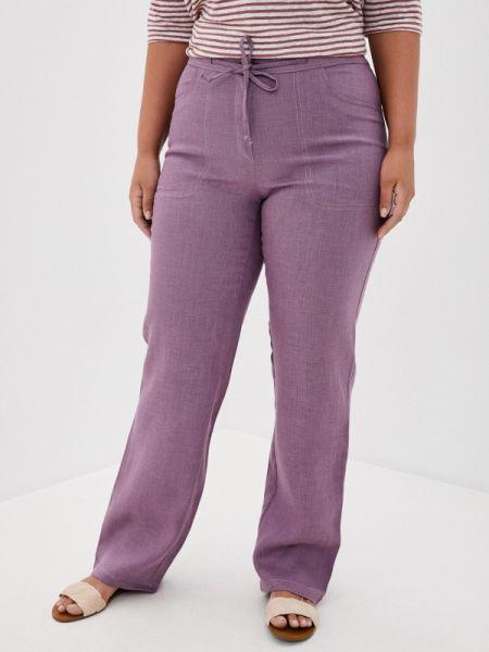 Прямые фиолетовые брюки Gabriela