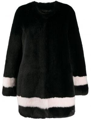 Акриловое коралловое длинное пальто с воротником с вырезом La Seine & Moi