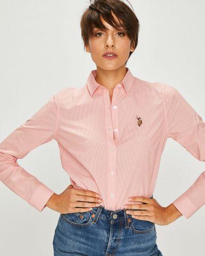 Блузка с длинным рукавом в полоску прямая U.s. Polo