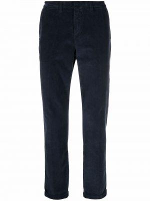 Синие брюки на молнии Fay