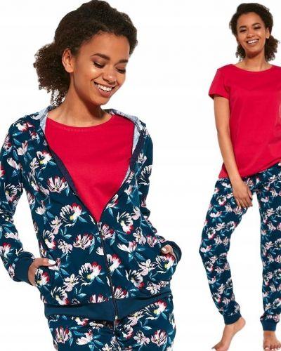 Czerwona piżama bawełniana krótki rękaw Cornette