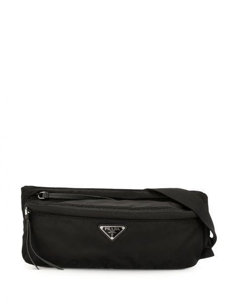 Черная нейлоновая поясная сумка на молнии Prada Pre-owned