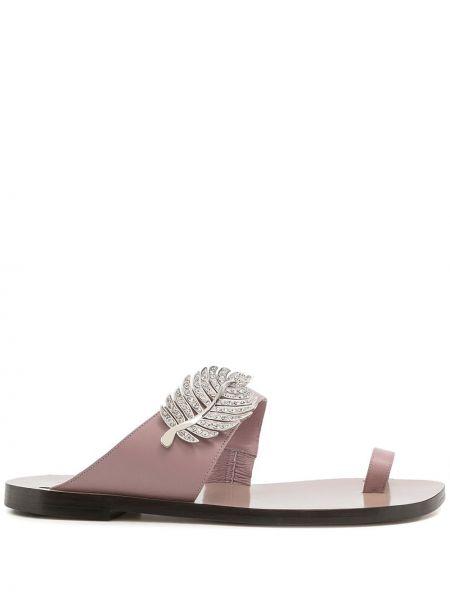 Sandały skórzane - różowe Nicholas Kirkwood