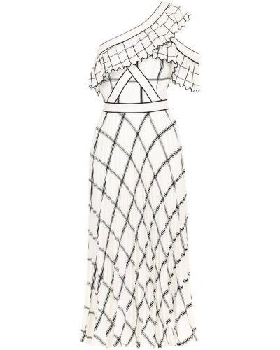 Платье миди приталенное из вискозы Self-portrait