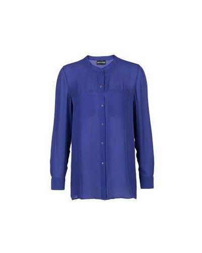 Фиолетовая блузка вечерняя Emporio Armani