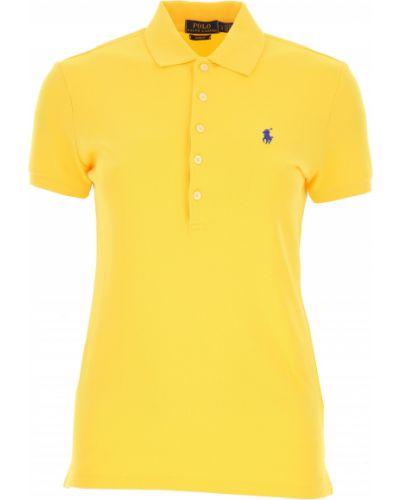 Żółty t-shirt bawełniany Ralph Lauren